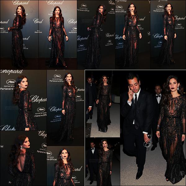 19/05/17 - Sara Sampaio  s'est rendue à la soirée Chopard Space pendant le Festival de Cannes, - FR.  Cette-fois ci, Sara nous offre un look gothique signé Elie Saab, ce qui est vraiment en opposition avec les deux derniers jours, un joli top