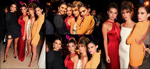 20/05/17 - Sara Sampaio  s'est rendue à la soirée « Vanity Fair x Chopard » lors du Festival de Cannes Nouveau look pour cette soirée, c'est donc une Sara dans une robe orange présente devant les flashs, accompagnée de Kendall Jenner