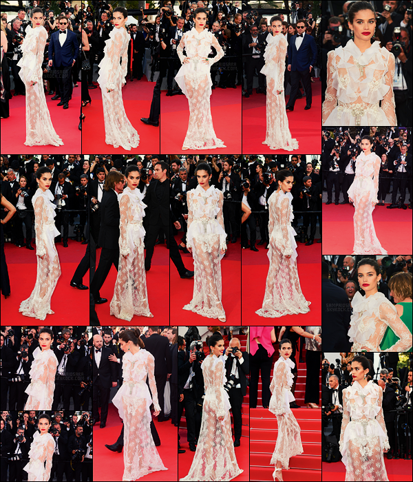 22/05/17 - Sara Sampaio  était à l'avant première du film Mise à mort du cerf sacré, Festival de Cannes Sara était de toute beauté, encore une robe très belle, point négatif par contre, trop transparente aux fesses, ce n'est pas génial.. Un top.
