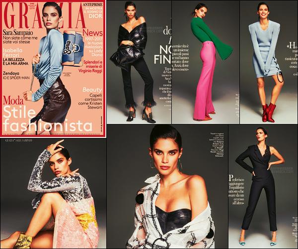 »  Notre mannequin Sara Sampaio fait la couverture de Elle Italie ● Issue de Juillet 2017