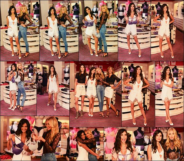 18/07/17 - Sara Sampaio  a assisté à l'événement   T-Shirt Bra de la marque Victoria Secret dans New York Pour cet événement spécial, la marque a fait venir la meilleure amie de Sara, présente à tout à gauche sur la photo de groupe. Un joli top