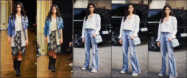 29/09/17 - Sara Sampaio a été aperçue défilant et quittant le défilé  Redemption organisé dans Paris, FR. Très peu de photos dispos de notre belle brune. J'aime beaucoup la veste en jean du défilé que je trouve parfaite. Qu'en pensez-vous ?