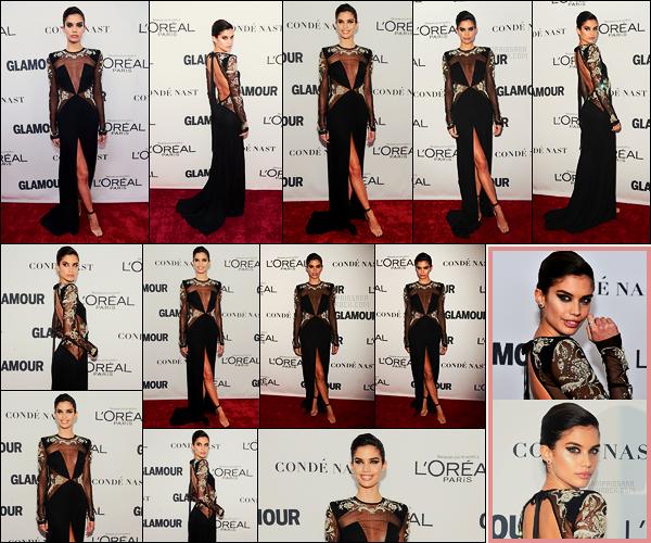 13/11/17 - Sara Sampaio s'est rendue à la cérémonie des Glamour's Women of the Year Awards , N-Y. Notre belle brune portait une robe dos nu noire et transparente signée par Peter Dundas. C'est un très jolie top pour ma part, et vous?