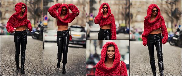 24/01/18 -  Plus tard dans la journée, Sara Sampaio a été aperçue, seule, au coeur des rues de Paris, FR. Très jolie haut mais elle ne devait pas avoir chaud ? Quant au jean, je ne suis pas fan à vrai dire... c'est donc un petit bof pour Sara !
