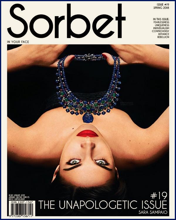 » La belle Sara Sampaio est en couverture du magazine Sober  ● Issue Printemps 2018