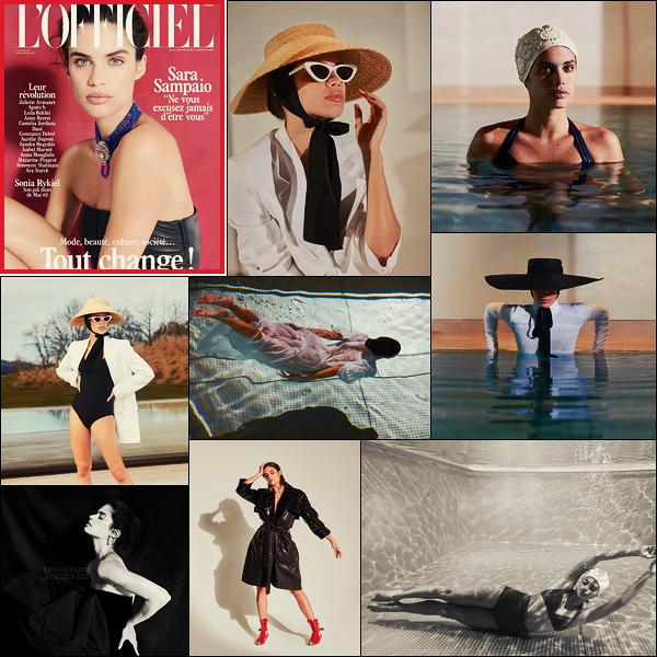 » Sara Sampaio est en couverture du magazine français L'Officiel  ● Issue de Mai 2018