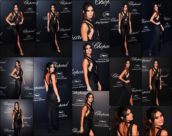 11/05/18 - Sara Sampaio s'est rendue à la soirée annuelle par  Chopard durant le Festival de Cannes, FR. Pour cette soirée, Sara portait une robe signée par Julien Macdonald avec un corset par Swaroski orné de cristaux. Un sublime top!