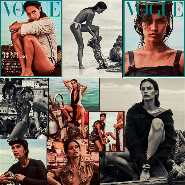 » Sara Sampaio est en couverture du magazine Vogue Mexique ● Issue de Juin 2018 !