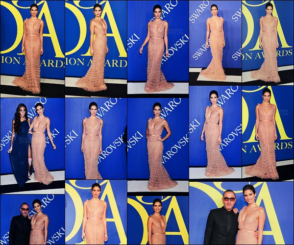 05/06/18 - La sublime mannequin Sara Sampaio s'est rendue aux  CFDA Fashion Awards  dans New York. Notre brunette portait une robe rose poudrée signée  J. Mendel, et les bijoux étaient de Bvlgari. Sublime top pour ma part & pour vous?