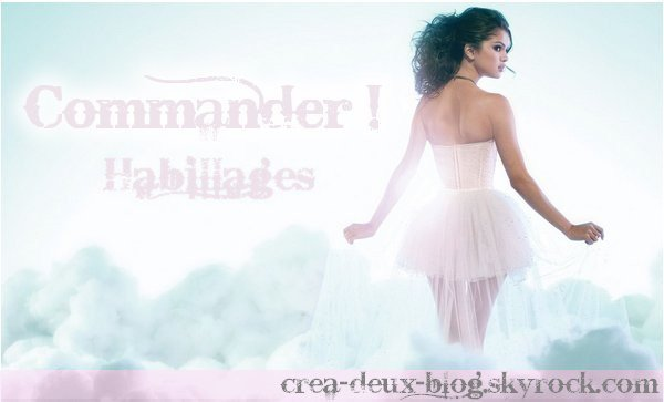 Instructions pour commander un habillage :