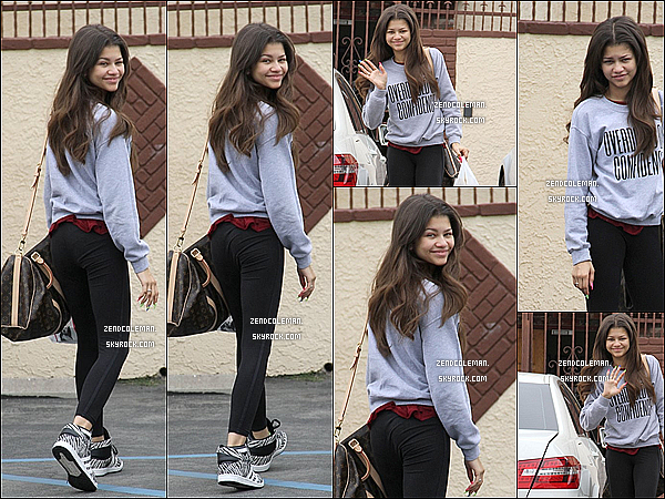 . 13/04/2013 : Zendaya a été aperçu se rendant aux répétitions de Dancing With The Stars. .