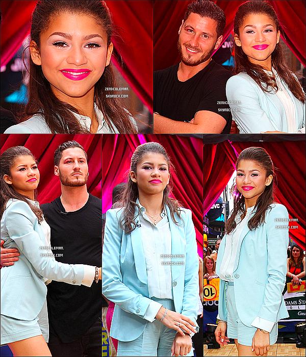 . 22/05/2013 :Zendaya & Val étaient sur la plateau de Good Morning America à N.Y !   .