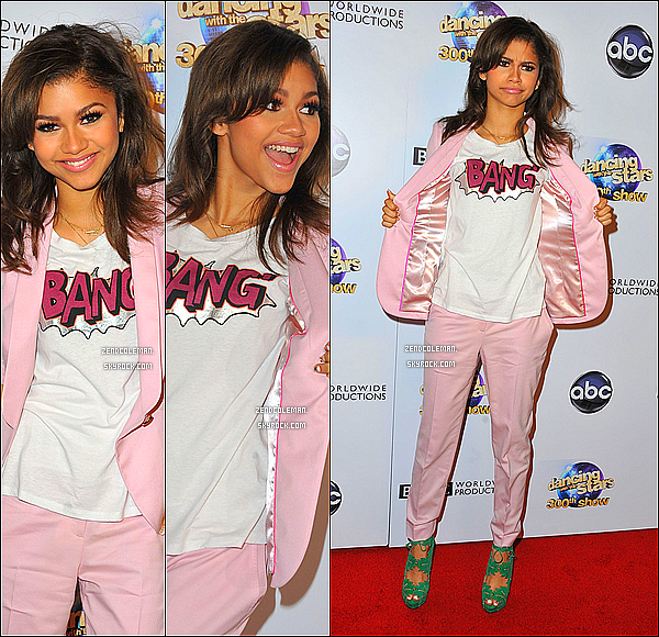 . 14/05/2013 : Zendaya  sur le tapis rouge de Dancing With The Stars à l'occasion du 300e épisode. .