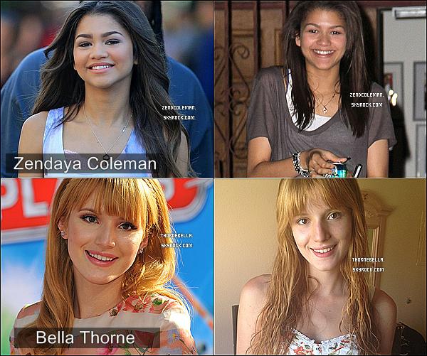 . ● Bella et Zendaya : Mais laquelle est la plus jolie sans maquillage? En collaboration avec ThorneBella.  .