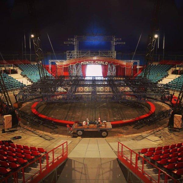 préparation du 41 ème festival international du cirque de MONTE CARLO !!!!