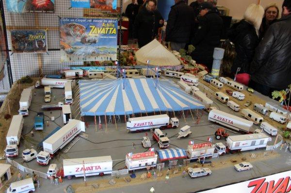 la maquette du cirque ACHILLE ZAVATTA exposée à l expo de la roche sur yon !!!!