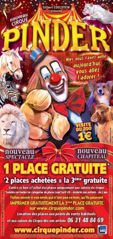 le nouveau flyer tournée 2017 du cirque PINDER !!!!