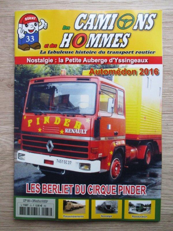 """aujourd hui achat du magazine """" DES CAMIONS ET DES HOMMES """" !!!!"""