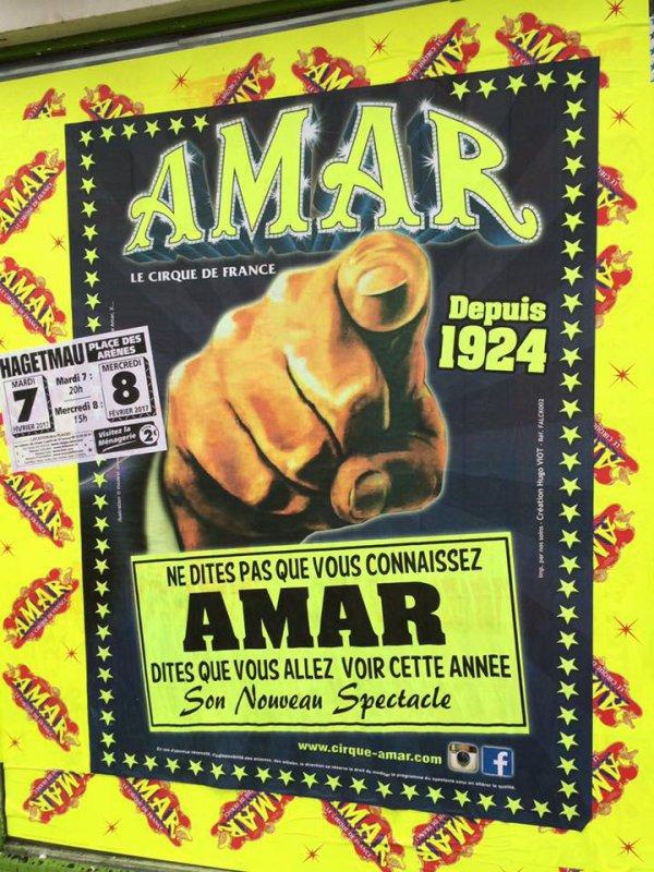 nouvelle affiche au cirque AMAR !!!!