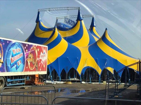 les cirques en europe nouveau chapiteau au cirque KOBZOV CIRCUS (ukraine) !!!!