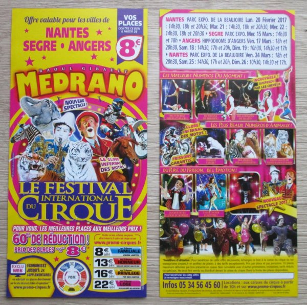 le cirque MEDRANO à nantes ce week end !!!!