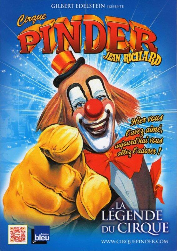 nouveau programme papier au cirque PINDER !!!!!