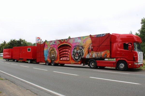 l arrivée du cirque NICOLAS ZAVATTA à st gilles croix de vie !!!!