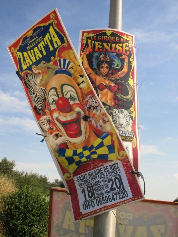le cirque SEBASTIEN ZAVATTA à sion sur l 'océan !!!!