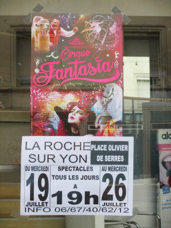 le cirque FANTASIA est à la roche sur yon !!!!