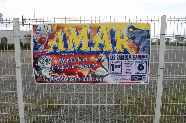 le cirque AMAR aux sables d 'olonne avec son nouveau spectacle l enchanteur !!!