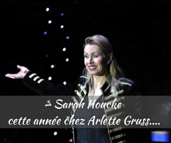 la dresseuse sarah houcke au cirque ARLETTE GRUSS pour cette nouvelle tournée 2018 !!!!