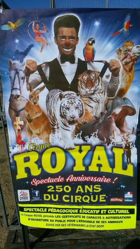 la nouvelle affiche 2018 du grand CIRQUE ROYAL !!!!