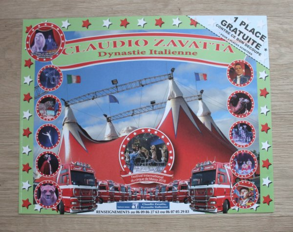 les cirques nicolas et claudio ZAVATTA installés à la roche sur yon !!!!