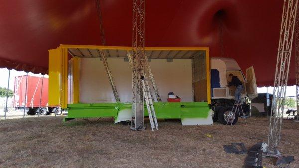 le cirque FRANCO ITALIEN en pause au langon !!!!