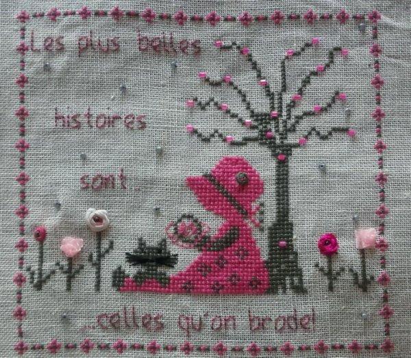 GRILLE DE MAGIQUE HAUTIERE, MÉLANGE RUBANS, PERLES