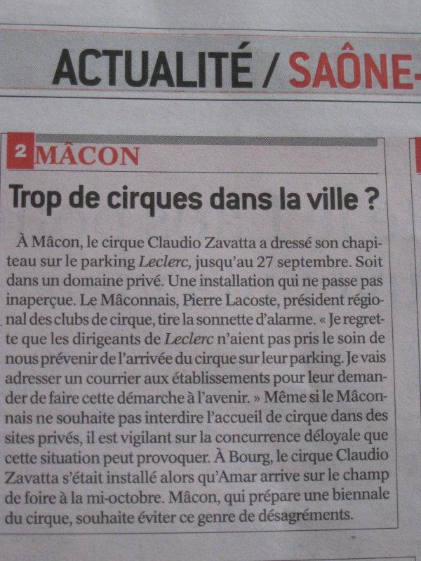 Vu sur le journal de Saone et Loire