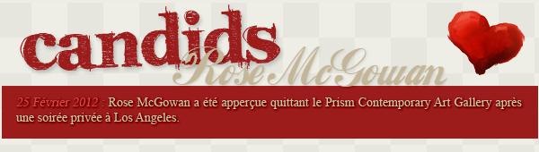 » Article 18 : Posté le 27/02/2012 | Candids & Event Rose