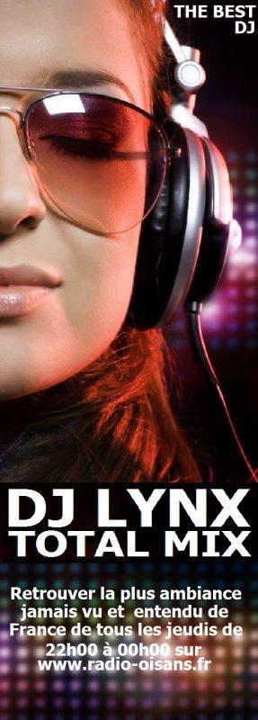 RDV Tous les jeudis de 22h00 à 00h00 retrouver la plus grosse ambiance jamai vu et entendu de France sur radio Oisans avec dj lynx au commende des platines, de la plus grosse émission numéro 1 sur radio Oisans l'émission s'appelle TOTAL MIX, avec les plus grands hits du moment, sound club soleil / hip hop / rnb / dancehall / sound tropical, toutes les émissions TOTAL MIX sera disponible en podcast en libre téléchargment et gratuit sur ce mur facebook, RDV demain à partir de 22h00 jusqu'à 00h00 pour une teuff de ouff, rester connecté un lien sera dispinible pour l'écoute en live, Big Up.
