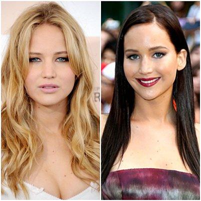 Jennifer Lawrence, brune ou blonde ?