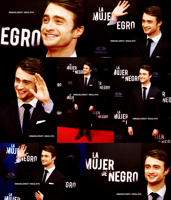 "14/02/12 : Promotion du film ""The Woman In Black"" en Espagne"