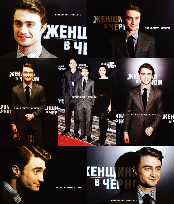 "15/02/12 : Promotion du film ""The Woman In Black"" en Russie (sous la neige :))"