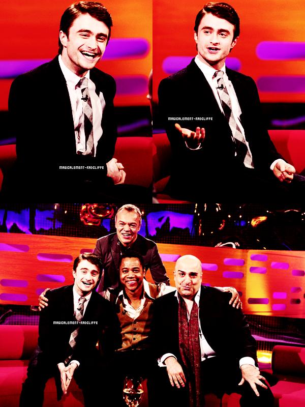 """17/02/12 : Daniel à l'émission """"Le Graham Norton Show"""""""