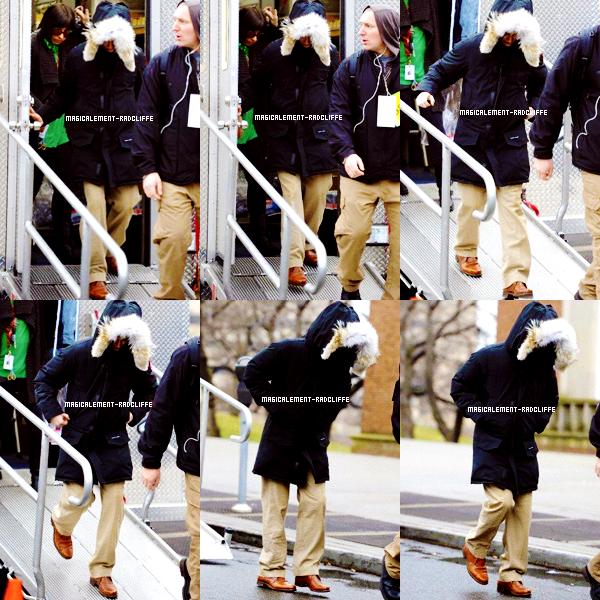 """16/03/12 : Daniel sur le tournage de """"Kill your darlings"""" à New York"""