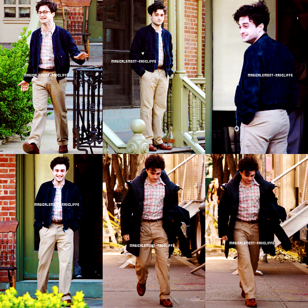 "26/03/12 : Daniel sur le tournage de ""Kill Your Darlings"""