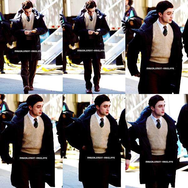 """27/03/12 : Daniel sur le tournage de """"Kill Your Darlings"""""""