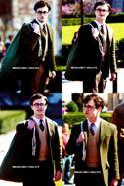 "05/04/12 : Daniel sur le tournage de ""Kill Your Darlings"" - Campus de Columbia"