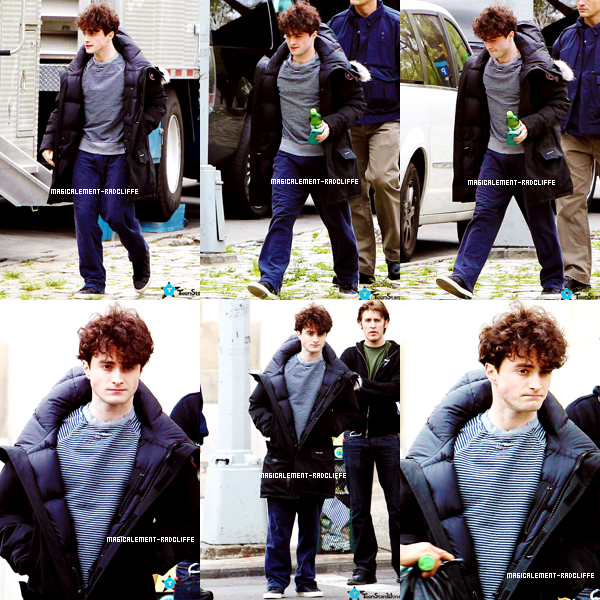 """11/04/12 : Daniel sur le tournage de """"Kill Your Darlings"""""""