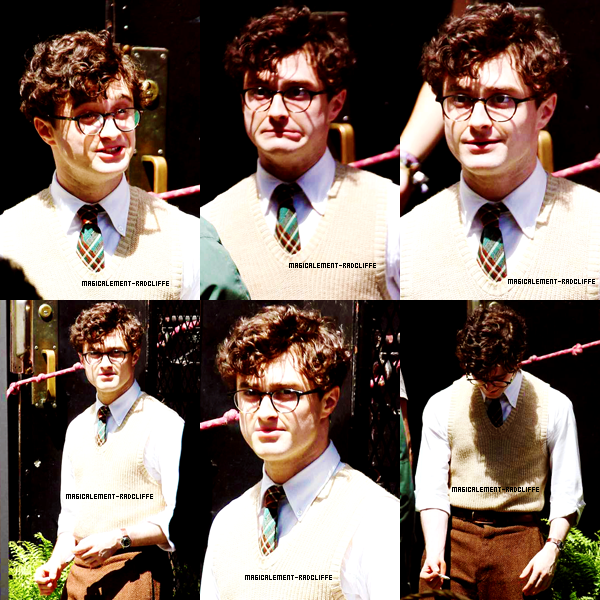 "17/04/12 : Daniel sur le tournage de ""Kill Your Darlings"""