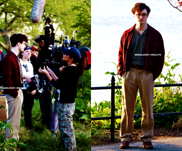 "19/04/12 : Daniel sur le tournage de ""Kill Your Darlings"""
