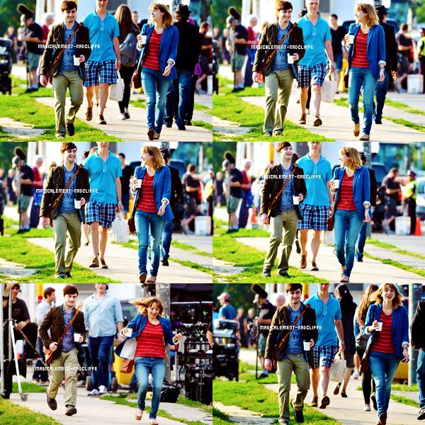 """15/08/12 : Daniel sur le tournage de """"The F Word"""""""
